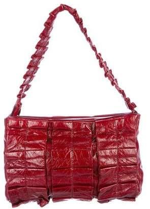 Miu Miu Ruched Leather Shoulder Bag