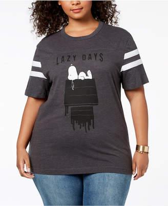 Hybrid Plus Size Snoopy Lazy Days T-Shirt