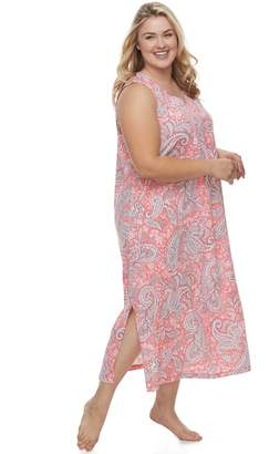 Croft & Barrow Plus Size Printed Maxi Nightgown