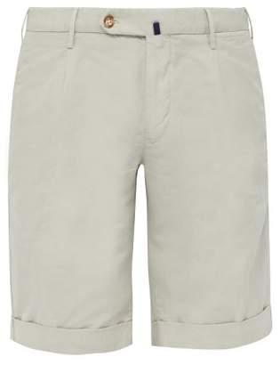 Incotex Slim Fit Linen Blend Chino Shorts - Mens - Beige