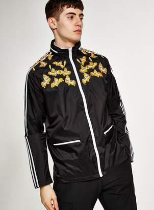 Black Embroidered Track Jacket