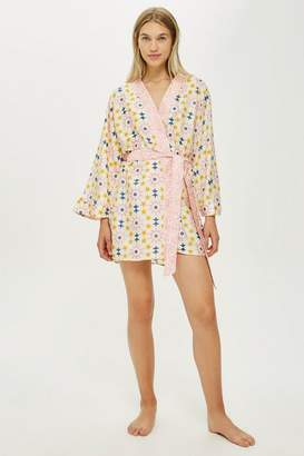 Topshop Key To Freedom Star Print Robe