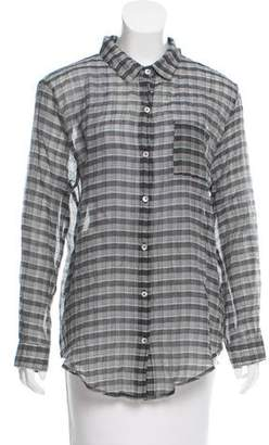 Objects Without Meaning Plaid Button-Up Top
