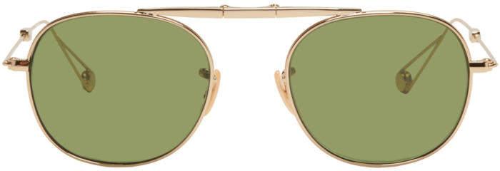 Garrett Leight Gold Van Buren Sunglasses