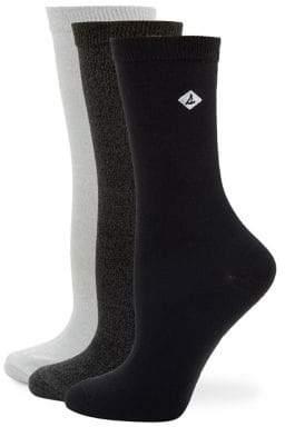 Sperry Three-Pack Logo Crew Socks
