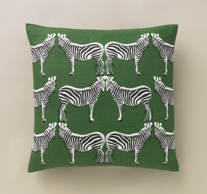 DwellStudio Zebra Kelly Green Pillow