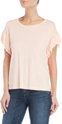 Jessica Simpson Pink Olympia Ruffle Sleeve Top