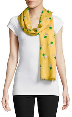 Kate Spade Pineapple Oblong Scarf