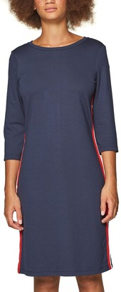 Esprit Short Straight Dress with 3/4 Length Sleeves