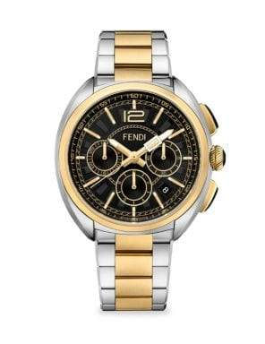 Fendi Momento Two-Tone Stainless Steel Chronograph Watch