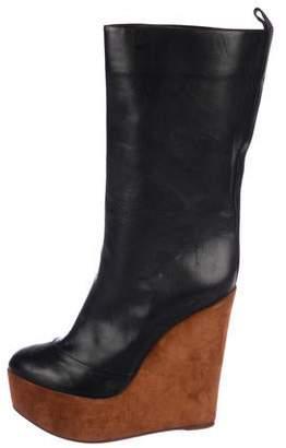 Celine Platform Mid-Calf Boots