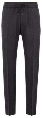 BOSS Hugo Fashion Show Capsule cropped regular-fit pants side-seam stripe 28R Grey