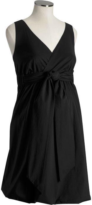 Maternity Tie-Front Bubble-Hem Dresses