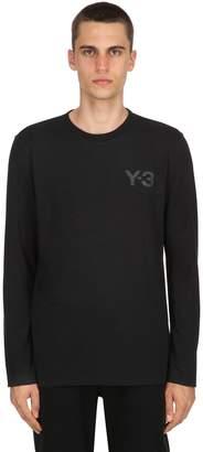 Y-3 Logo Detail Long Sleeve Jersey T-Shirt