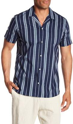 Slate & Stone Modern Fit Stripe Short Sleeve Button Shirt