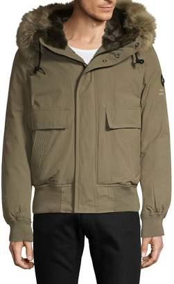 Jet Lag Jetlag Faux Fur-Trim Hooded Jacket