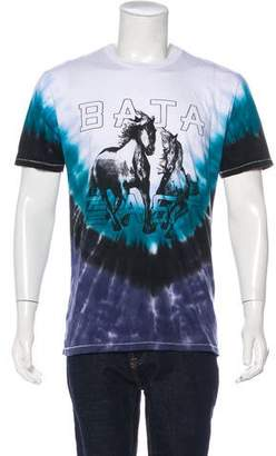 Baja East Graphic Tie Dye T-Shirt