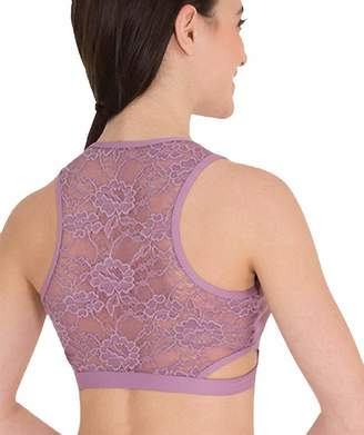51b3e0e7d5 at Amazon Canada · Body Wrappers Womens Lace Back Tank Dance Crop Top  (LC9023) -XS