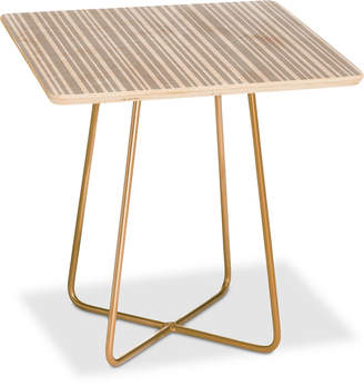 Deny Designs Lisa Argyropoulos Dove Stripe Square Side Table