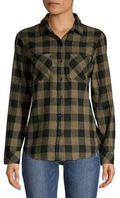 BeachLunchLounge Beach Lunch Lounge Plaid Button Front Shirt