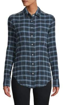 Rag & Bone Contrast-Panel Plaid Shirt