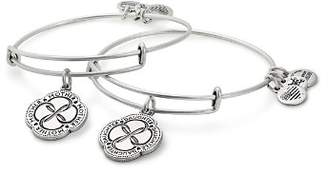 Alex and Ani Infinite Connection Expandable Wire Bangles, Set of 2