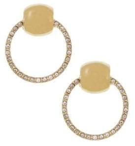 Christian Siriano Goldtone & Pave Crystal Door Knocker Earrings