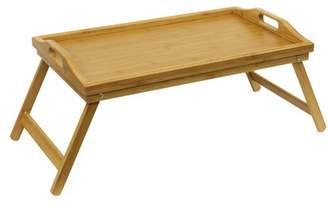 """HDS Trading Corp Bamboo Bed Tray 19"""" X 12"""" X 9.5"""""""