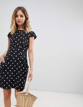 Qed London Polka Dot Tulip Dress