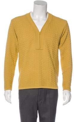 Giorgio Armani Woven Half-Zip Sweater