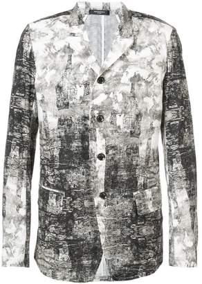Nude printed blazer