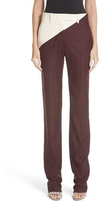 Calvin Klein Coated Panel Wool & Silk Pants