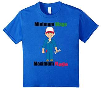 Minimum Wage Maximum Rage Mechanic Meme T-Shirt