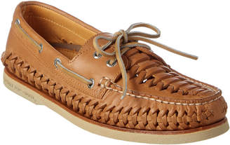 Sperry Men's Gold A/O Woven Leather Boat Shoe