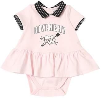 Givenchy Logo Printed Cotton Jersey Dress