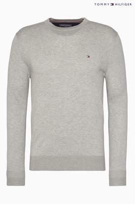 Next Mens Tommy Hilfiger Core Cotton Silk Sweater