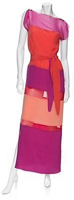 Tribune Standard Colorblock Sheer Panel Dress