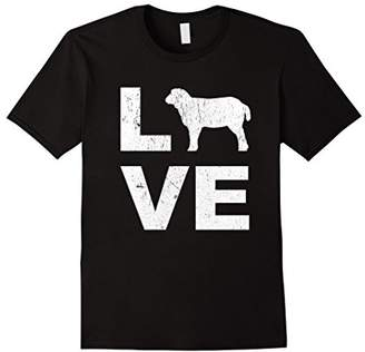 LOVE Sheep Animal Lovers FFA Distressed Graphic T-Shirt