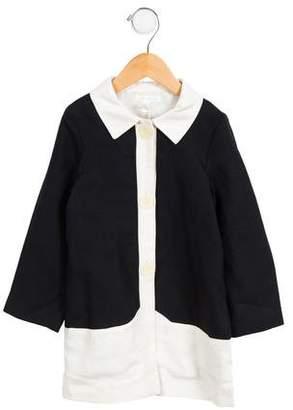 Marie Chantal Girls' Linen Two-Tone Coat w/ Tags