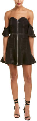 C/Meo Collective Get Right Linen-Blend Mini Dress