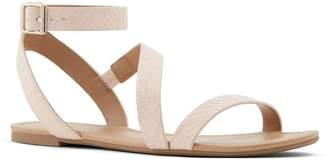 Call it SPRING Womens Ladies Flat Suede Sandals - Pink