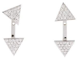 Penny Preville 18K Diamond Front Back Drop Earring