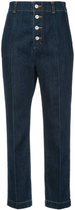 Le Ciel Bleu high waisted cropped jeans