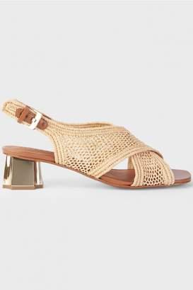 Clergerie Straw Cross Sandals