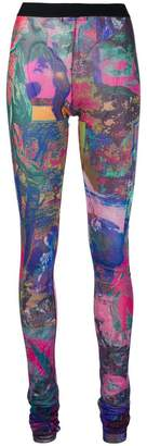 Diesel abstract printed leggings