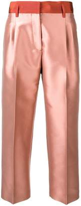 Alberto Biani contrast waistband cropped trousers