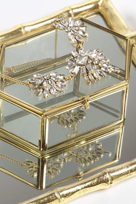 8 Oak Lane Glass Jewelry Box