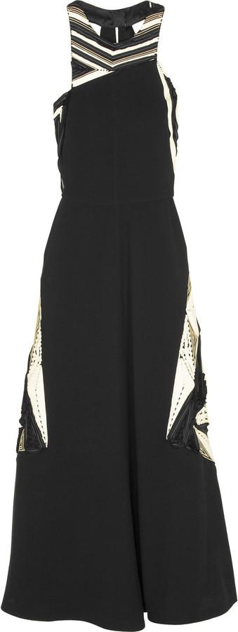 Fendi Embroidered halter dress