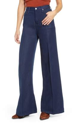 Free People Super High Waist Wide Leg Jeans