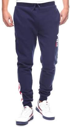 Fila Men's Callum Fleece Pants, Navy, Chinese Red, White, XL